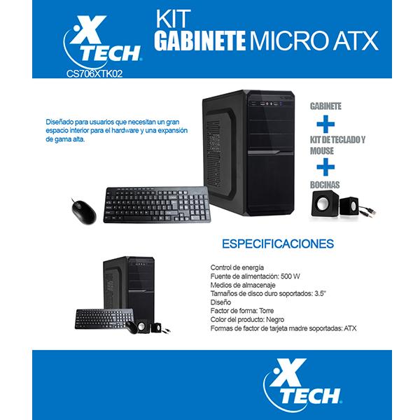 Xtech Gabinete Con Fuente De Poder 500watts Incluye