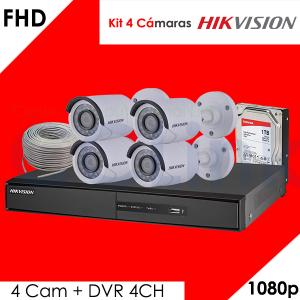 Kit 4 Cámaras 1080