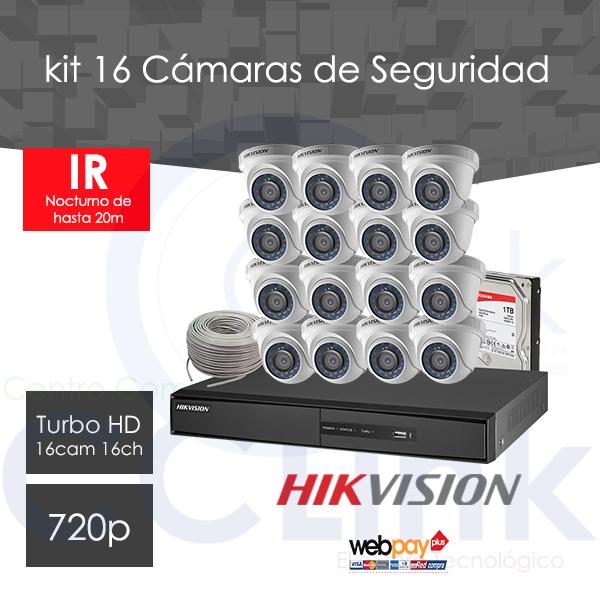Kit 16 Cámaras MiniDomos