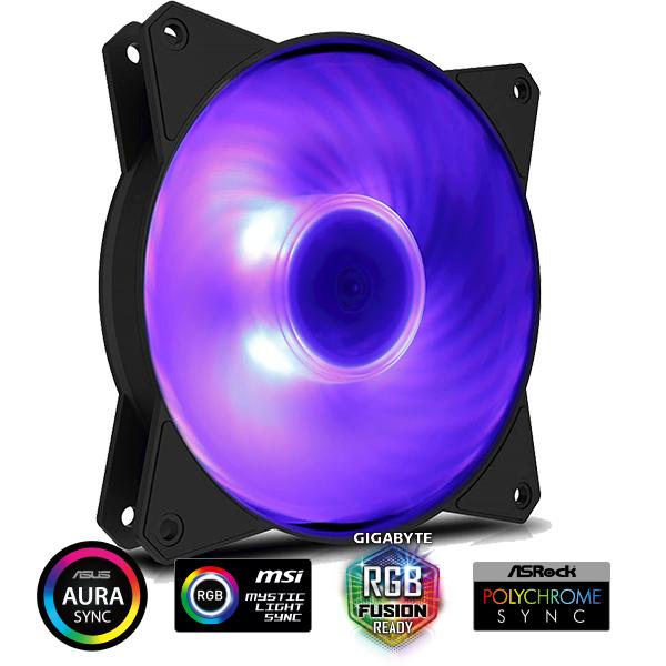 Ventilador MasterFAN MF120R RGB